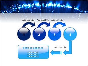 Blue Lighted Abstract Graphic PowerPoint Template - Slide 4