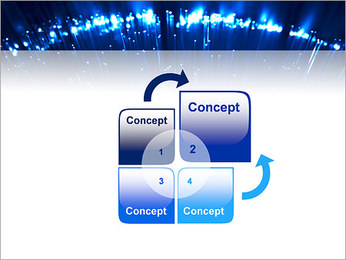 Blue Lighted Abstract Graphic PowerPoint Template - Slide 5