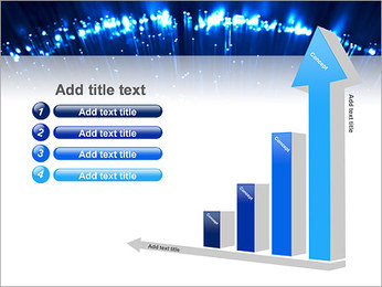 Blue Lighted Abstract Graphic PowerPoint Template - Slide 6