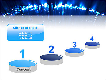 Blue Lighted Abstract Graphic PowerPoint Template - Slide 7