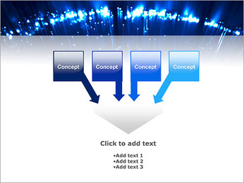 Blue Lighted Abstract Graphic PowerPoint Template - Slide 8