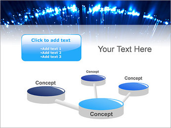 Blue Lighted Abstract Graphic PowerPoint Template - Slide 9