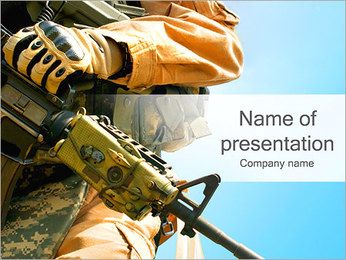 Soldier With Gun PowerPoint Template
