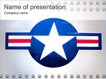 USA Aviation PowerPoint Template
