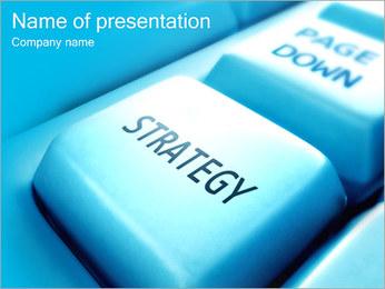 Keyboard Strategy Button PowerPoint Template - Slide 1