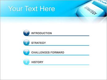 Keyboard Strategy Button PowerPoint Template - Slide 3
