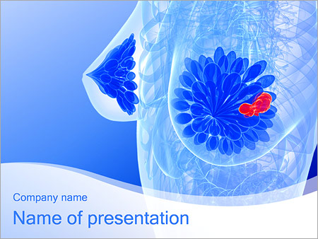 Anatomy breast picture powerpoint template backgrounds for Breast cancer powerpoint template free download