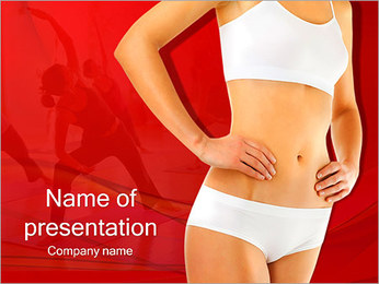 Sporty Female Body PowerPoint Template