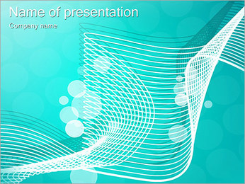 Light Blue Abstract Picture PowerPoint Template