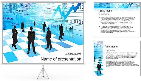 Finance Abstract Diagram PowerPoint Template