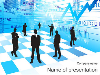 Ekonomi Abstrakt Diagram PowerPoint presentationsmallar