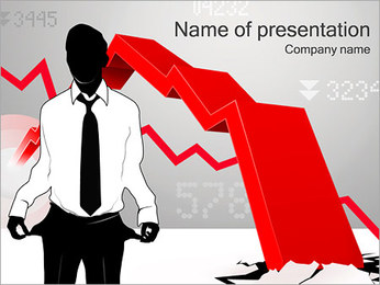 Financial Bankrupt PowerPoint Template