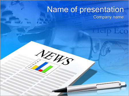 diagram in the newspaper powerpoint template & backgrounds id, Modern powerpoint