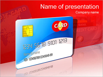 Plastic Credit Card PowerPoint Template
