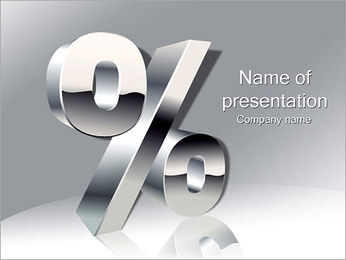 Percent Sign PowerPoint Template