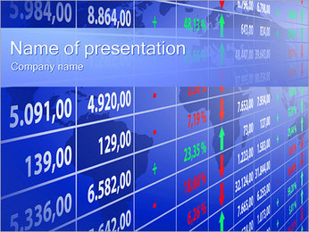 Financial Report Table PowerPoint Template