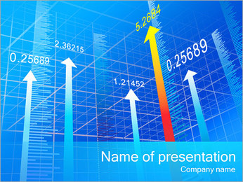 Arrow In The Diagram PowerPoint Template