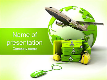 Travelling By Plane PowerPoint Template - Slide 1