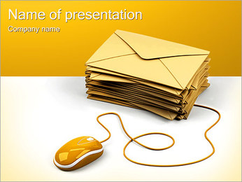 E-mail Letters PowerPoint Template - Slide 1