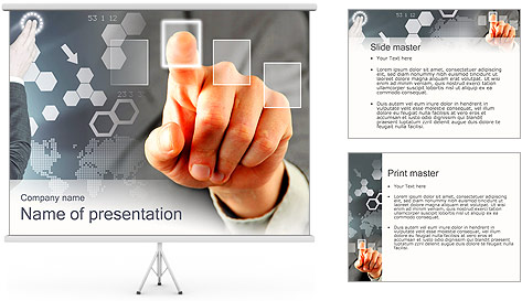 Panel Screen Touch PowerPoint Template