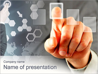 Touch-Panel-Bildschirm PowerPoint-Vorlagen