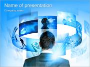 De mens denkt strategisch Sjablonen PowerPoint presentaties