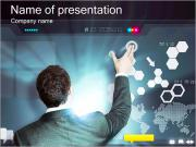 Pantalla Azul Touch Plantillas de Presentaciones PowerPoint
