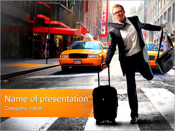 Catching Taxi PowerPoint Template