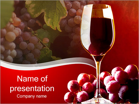 Glass of red wine powerpoint template backgrounds id 0000002822 glass of red wine powerpoint template toneelgroepblik Image collections