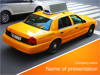 Taxi Drive PowerPoint Template