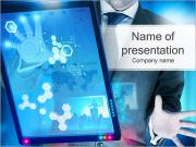 High Tech Touch Screen I pattern delle presentazioni del PowerPoint