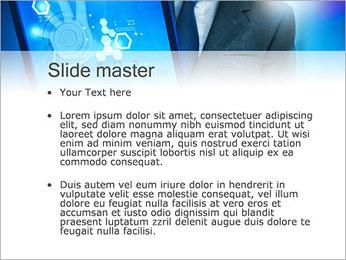 Écran tactile High Tech Modèles des présentations  PowerPoint