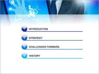 Écran tactile High Tech Modèles des présentations  PowerPoint - Diapositives 3