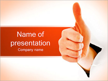 Positive Thumb Gesture PowerPoint Template