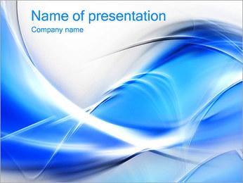 素敵な青色の抽象画イメージ PowerPointプレゼンテーションのテンプレート