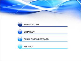 素敵な青色の抽象画イメージ PowerPointプレゼンテーションのテンプレート - スライド 3