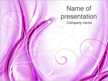 Lilac Abstract Background PowerPoint Template