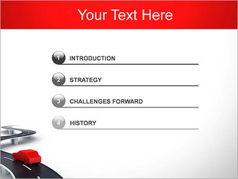 Long Road avec la voiture Modèles des présentations  PowerPoint - Diapositives 3
