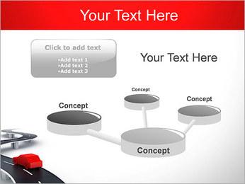Long Road avec la voiture Modèles des présentations  PowerPoint - Diapositives 9