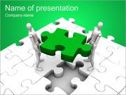 Two Men Make Puzzle PowerPoint Templates