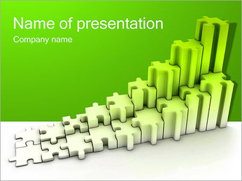 Green Puzzle Diagram PowerPoint Template