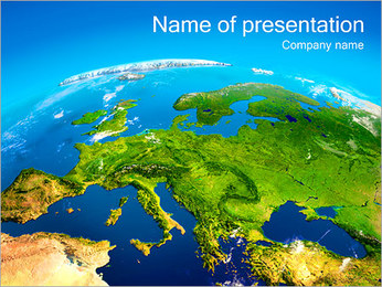 Earth Map PowerPoint Template