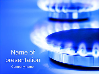 Gas Flame PowerPoint Template