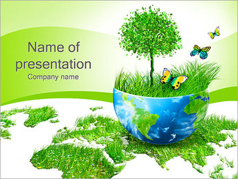 Красивый зеленый Природа Шаблоны презентаций PowerPoint