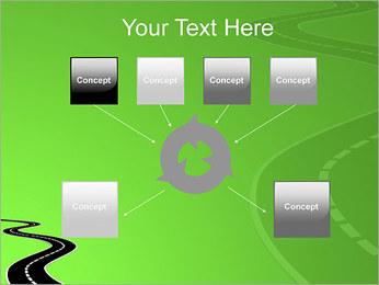 Route sur fond vert Modèles des présentations  PowerPoint - Diapositives 10