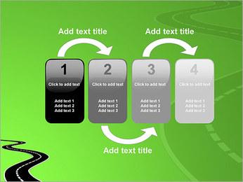 Route sur fond vert Modèles des présentations  PowerPoint - Diapositives 11