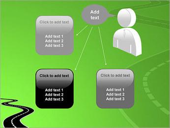 Route sur fond vert Modèles des présentations  PowerPoint - Diapositives 12