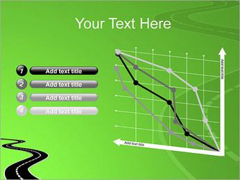 Route sur fond vert Modèles des présentations  PowerPoint - Diapositives 13