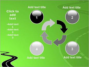 Route sur fond vert Modèles des présentations  PowerPoint - Diapositives 14