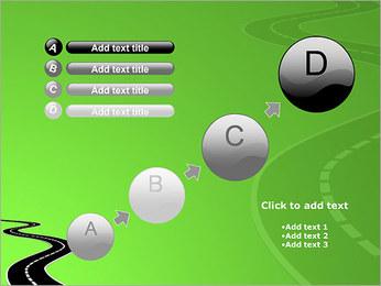 Route sur fond vert Modèles des présentations  PowerPoint - Diapositives 15